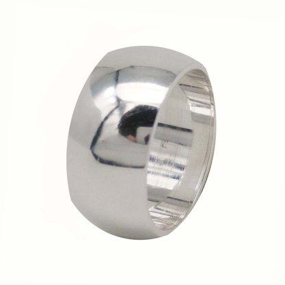 Aliança Prata Lisa 10mm