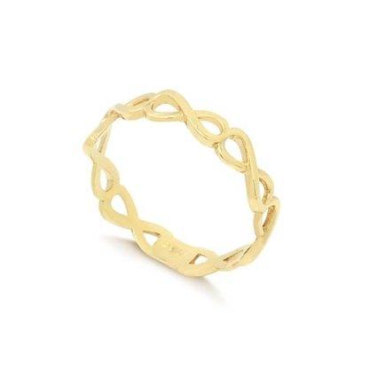 Anel Ouro 416 Diamantado Tralhado Infinito