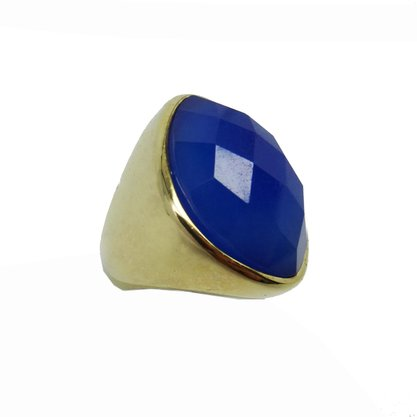 Anel Semi Jóia Pedra Azul