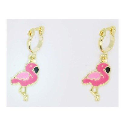 Argola Semi Jóia Infantil Flamingo