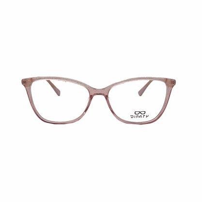 Armação para Óculos DiFaty Rosa Brilho