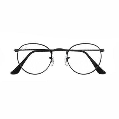 Armação para Óculos Ray Ban Metal Round Preta