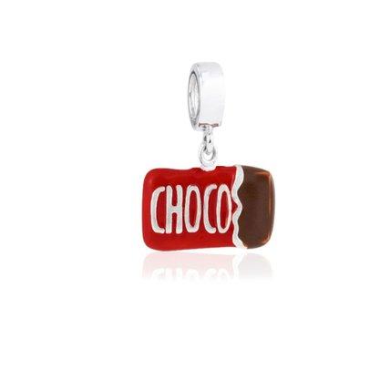 Berloque Prata Barra de Chocolate
