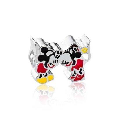 Berloque Prata Beijo Minnie e Mickey
