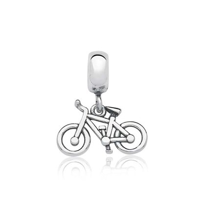 Berloque Prata Bicicleta