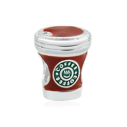 Berloque Prata Copo Coffe