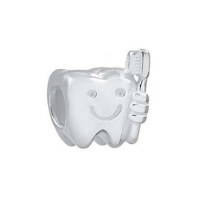 Berloque Prata Dente e Escova