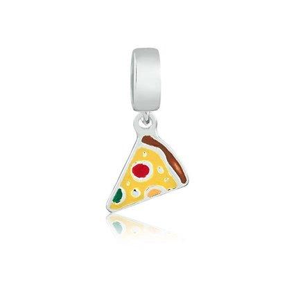 Berloque Prata Fatia de Pizza