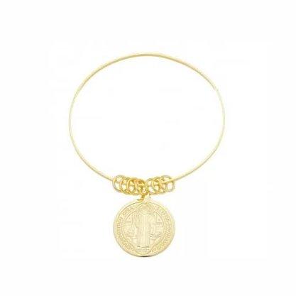 Bracelete Semi Jóia Dourado São Bento