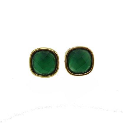 Brinco Semi Jóia Pedra Verde