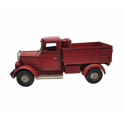 Caminhonete Metal Decorativa Vermelha