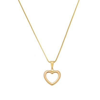 Colar Semi Jóia Dourada Coração