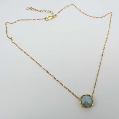 Corrente Semi Jóia Pedra Azul Citrino