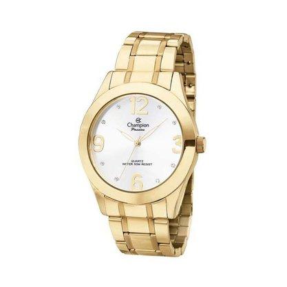 Kit Relógio Champion Feminino Dourado
