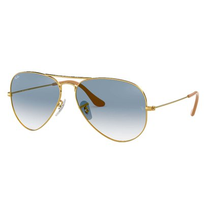 Óculos Solar Ray Ban Aviador Azul Degradê