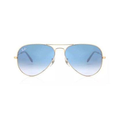 Óculos Solar Ray Ban Aviador Azul Degradê