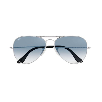 Óculos Solar Ray Ban Aviador Prateado