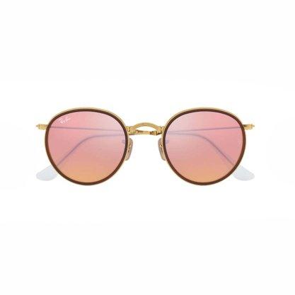 Óculos Solar Ray Ban Roung Folding Dourado