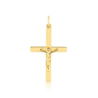 Pingente Ouro 416 Crucifixo com Imagem