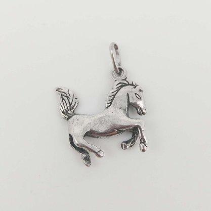Pingente Prata Envelhecida Cavalo