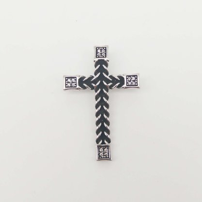 Pingente Prata Envelhecida Crucifixo