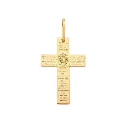 Pingente Semi Jóia Dourado Cricifixo