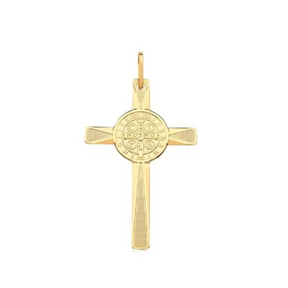 Pingente Semi Jóia Dourado Crucifixo