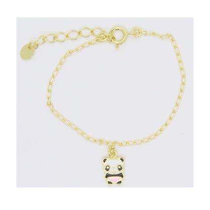 Pulseira Semi Jóia Infantil Urso Panda