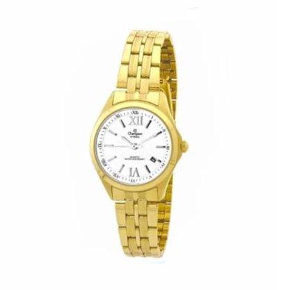 Relógio Champion Feminino Dourado Calendário