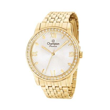 Relógio Champion Feminino Dourado Passion