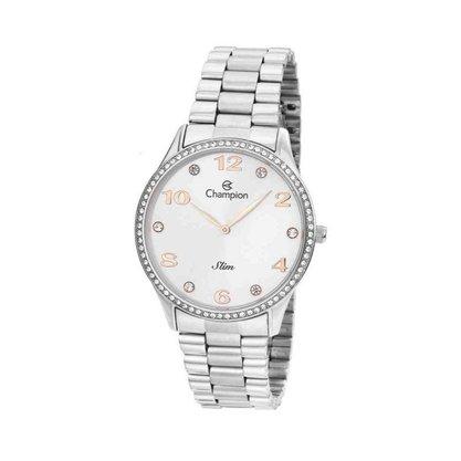 Relógio Champion Feminino Prateado Slim
