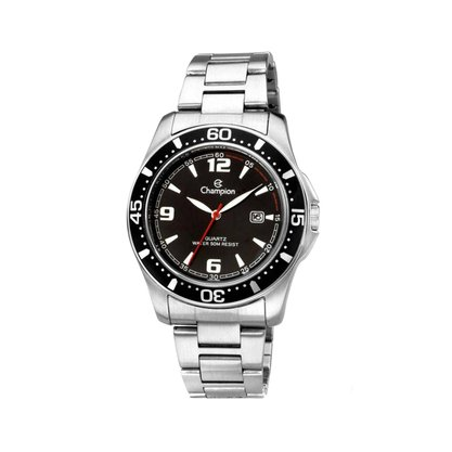 Relógio Champion Masculino Prata Calendário