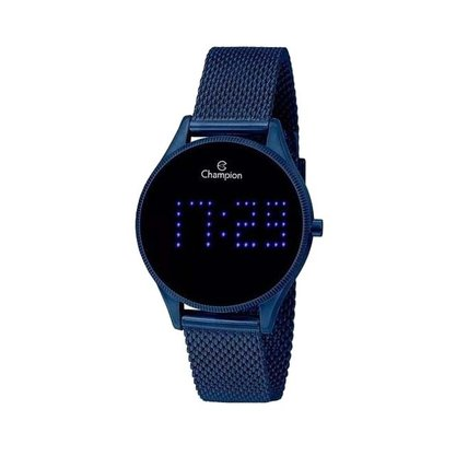 Relógio Champion Unissex Azul Digital Led