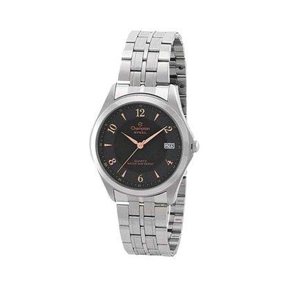 Relógio Champion Unissex Prata Calendário