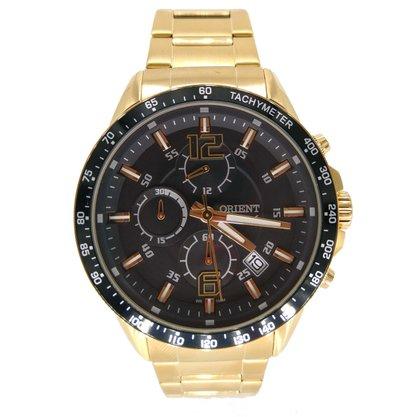 Relógio Orient Masculino Dourado Cronógrafo