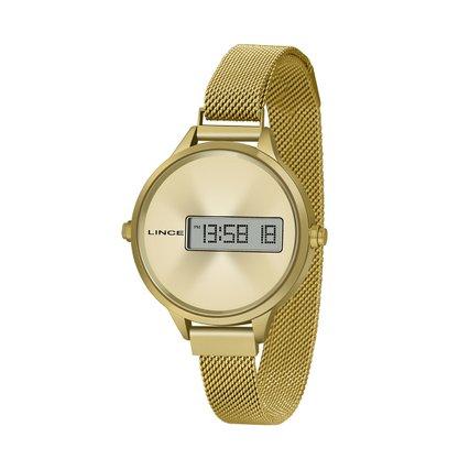 Relógio Lince Dourado Digital