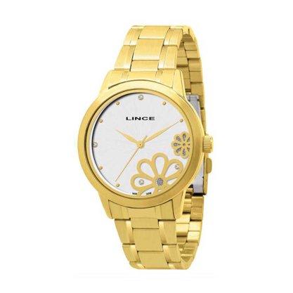 Relógio Lince Feminino Dourado