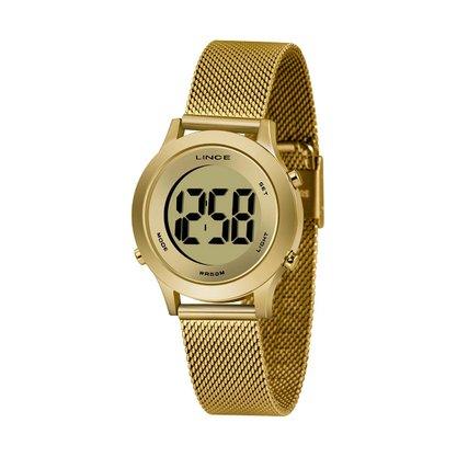 Relógio Lince Feminino Dourado Digital