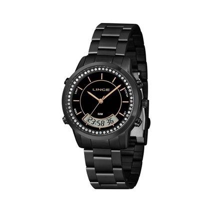 Relógio Lince Feminino Preto Anadigi