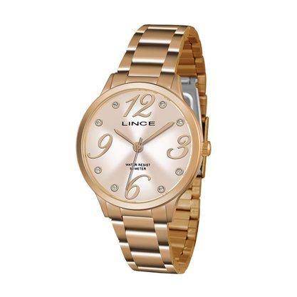 Relógio Lince Feminino Rose com Pedras