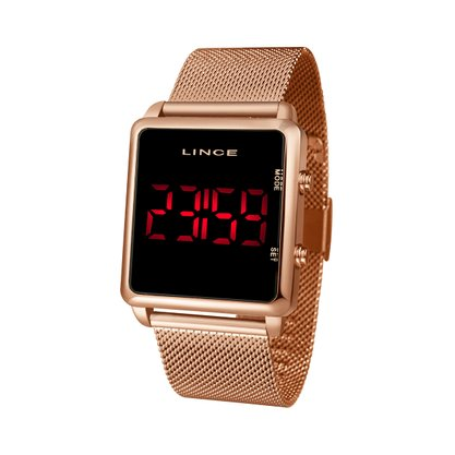 Relógio Lince Feminino Rose Led Digital