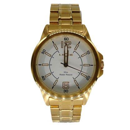 Relógio Lince Masculino Dourado