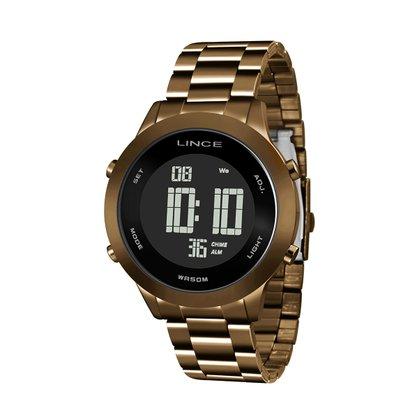 Relógio Lince Unissex Chocolate Digital
