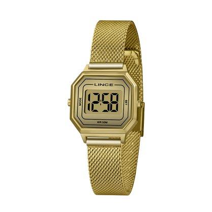 Relógio Lince Unissex Dourado Digital