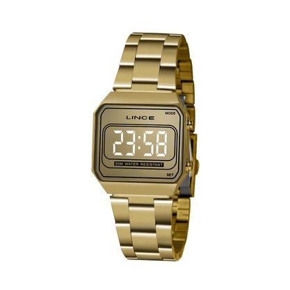 Relógio Lince Unissex Dourado Led Digital