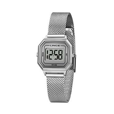 Relógio Lince Unissex Prateado Digital