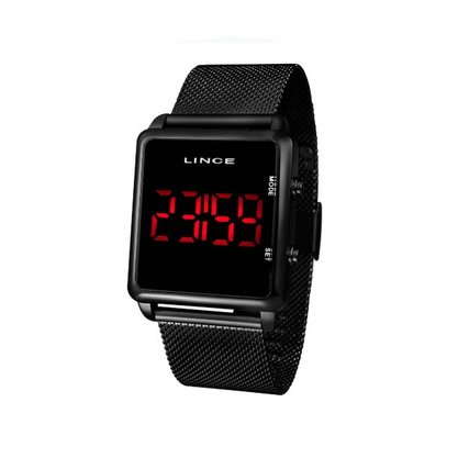 Relógio Lince Unissex Preto Digital Led