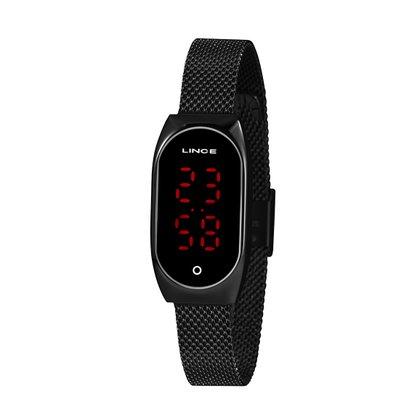 Relógio Lince Unissex Preto Led Digital