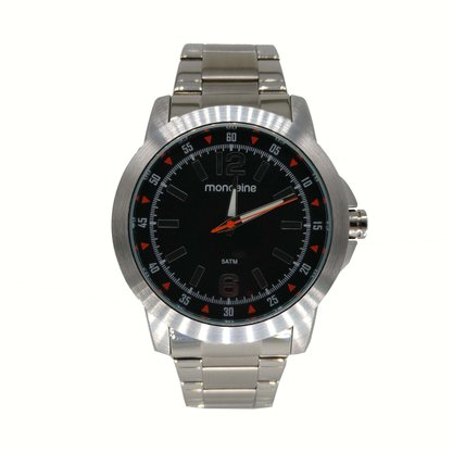 Relógio Mondaine Masculino Prata Cronógrafo