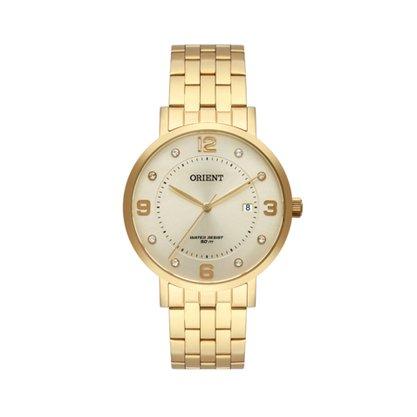 Relógio Orient Feminino Dourado Calendário